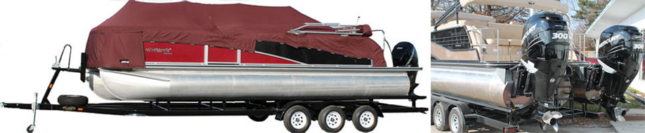 triple axel pontoon trailer