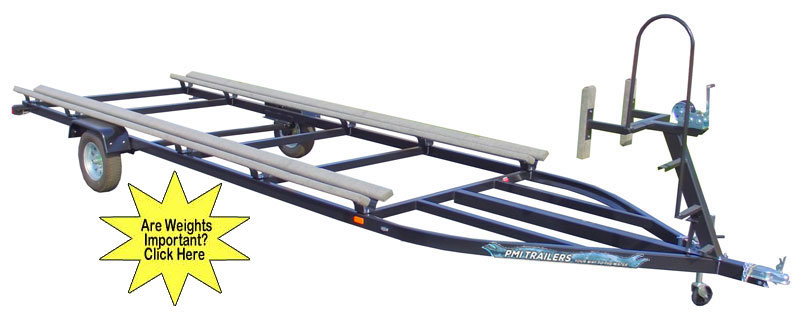 pmi-120 sigle axle pontoon trailer