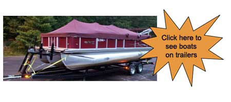 pontoon boats on trailers