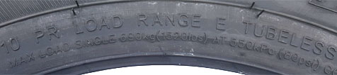"12"" radial trailer tire"