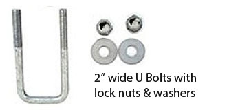 u-bolts for mounting pontoon trailer load guides