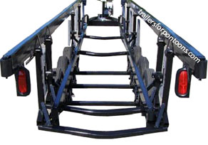 crank center lift pontoon trailer for triple tube pontoon boats