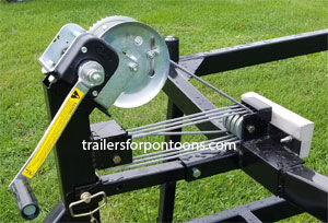 center lift triple axle pontoon trailer
