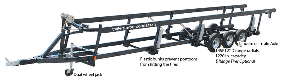 crank center lift pontoon trailer