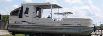 party hut pontoon trailer