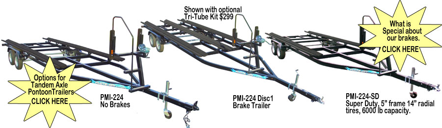 pmi 224 pontoon boat trailers