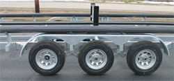 hot dipped galvanized pontoon trailer frame