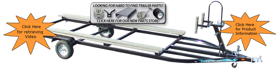 Single Axle Pontoon Boat Trailer