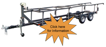 Center Lift Pontoon Boat Trailers