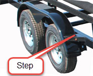 Pontoon Trailer Step Fender
