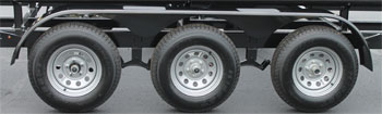 Triple axle pontoon trailer