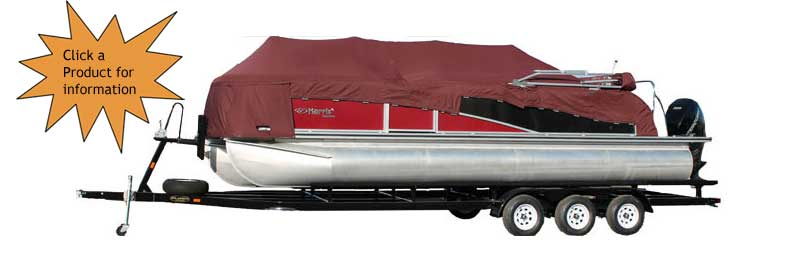 Triple Axle Pontoon Boat Trailer