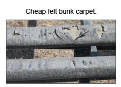 bunk felt carpet