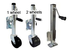 pontoon trailer jack wheels