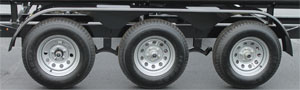 Tri-axle pontoon trailer