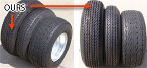 trailers for pontoon tires